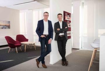 Foto von Geschäftsführer Michel Billon und Detlef Zell
