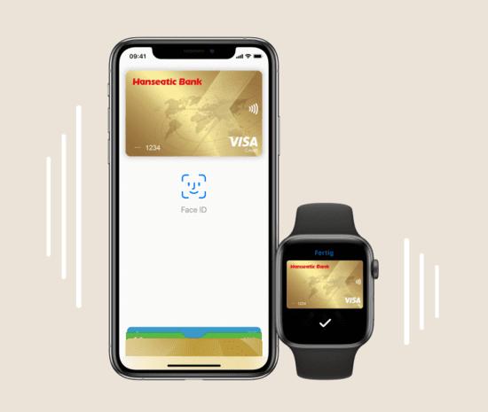 Goldcard Apple Pay Hanseatic Bank