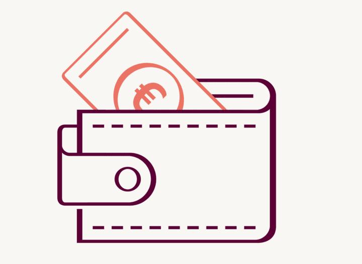 Geldbörse mit Geldschein – Hanseatic Bank
