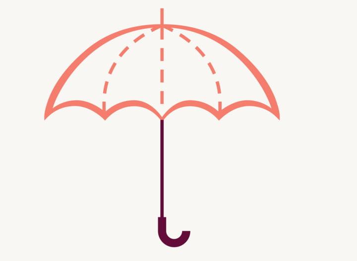 Hanseatic Bank Versicherung Regenschirm SicherKreditkarte