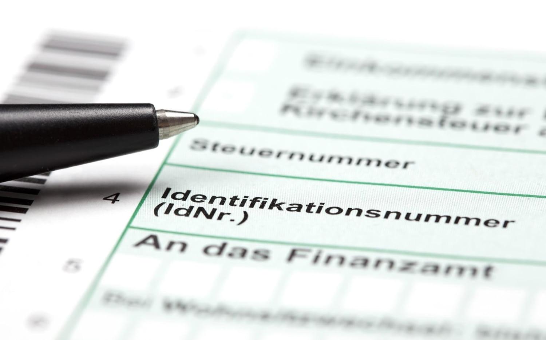 Nahaufnahme Formular für Steuererklärung