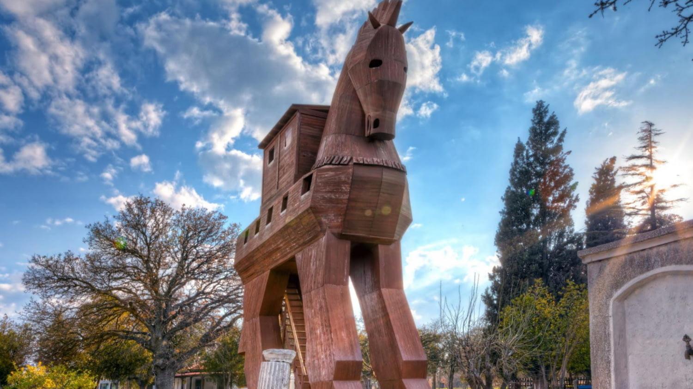 Nachbau des Trojanischen Pferdes