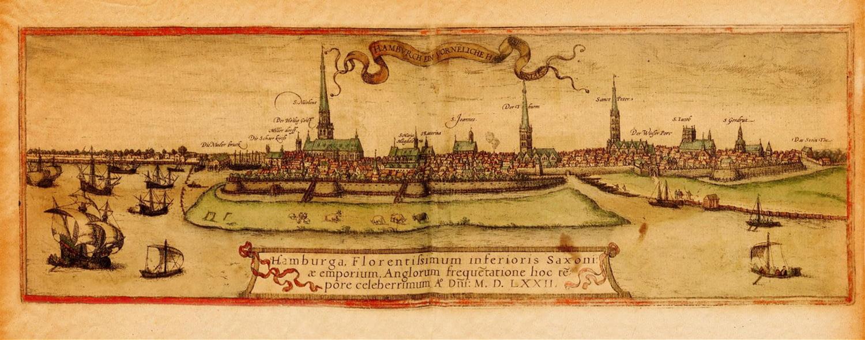 Illustration von Hamburg 1572