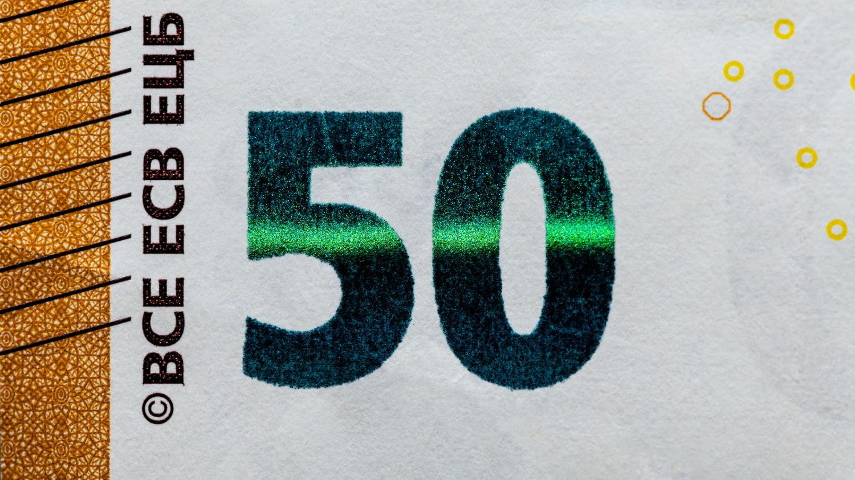 Geldschein Sicherheitsmerkmal Smaragdzahl