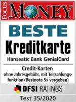 Fokus-Money Siegel Beste Kreditkarte